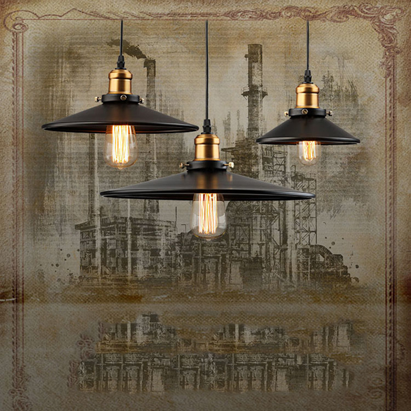 """Edison Retrofit Pendant Lamp from left to right 10"""", 14"""" and 8"""""""