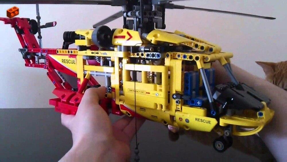 Nouvelle ville sauvetage hélicoptère déformable fit legoings technic ville avion modèle blocs de construction briques bricolage jouet cadeau garçons enfants - 4