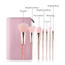 Лучший!  7шт набор кистей для макияжа высокого качества пудра тени для век подводка для глаз брови смесь корр �