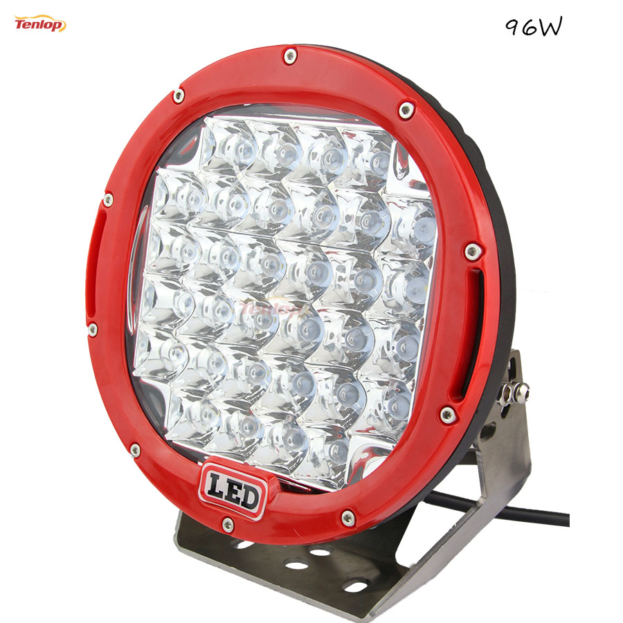9 Inch 96W LED Front Bumper Light For Offroad 4*4 Wrangler Truck 4*4 SUV ATV Tractor 12V 24V hot sale 9 inch 40w single row led light bar for offroad wrangler 4 4 suv atv 12v 24v