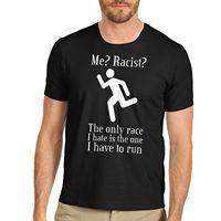 T Shirt Company Men S Short Sleeve Printed Crew Neck Cotton Novelty Funny Joke Racist White