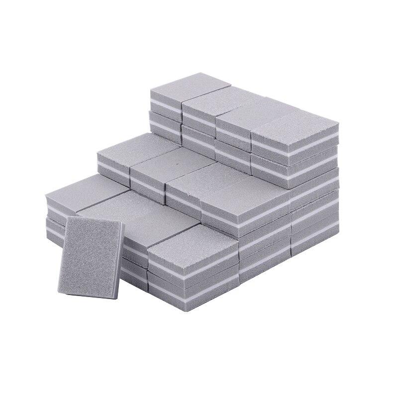 20pcs/lot Sanding Block Nail File Gray Mini Sponge Nail Polish Files Pedicure Manicure Professional Nail Accessories Tools