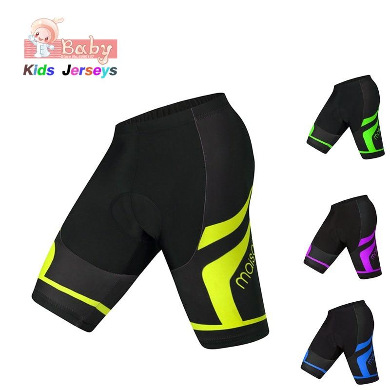 Coolmax 3D Pad Cycling Shorts Shockproof MTB Bicycle Shorts Road Bike Shorts Ropa Ciclismo Tights For Kids Downhill Bike Shorts