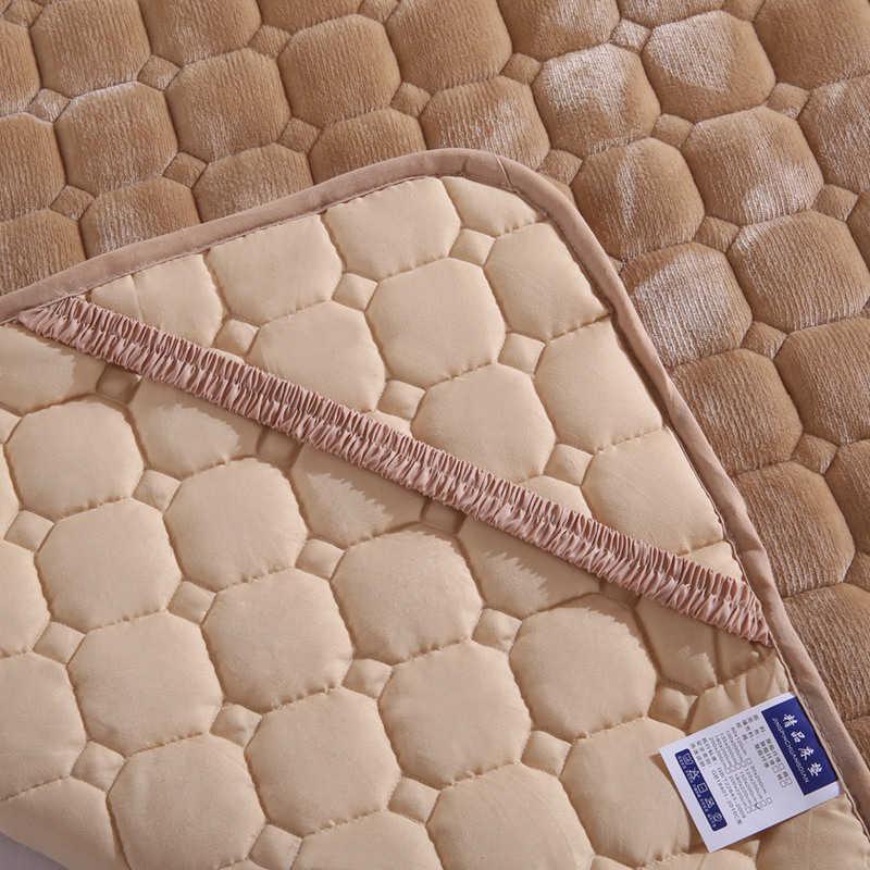 Утепленные фланелевые покрывала волокна складной матрас пол татами один двуспальный матрац