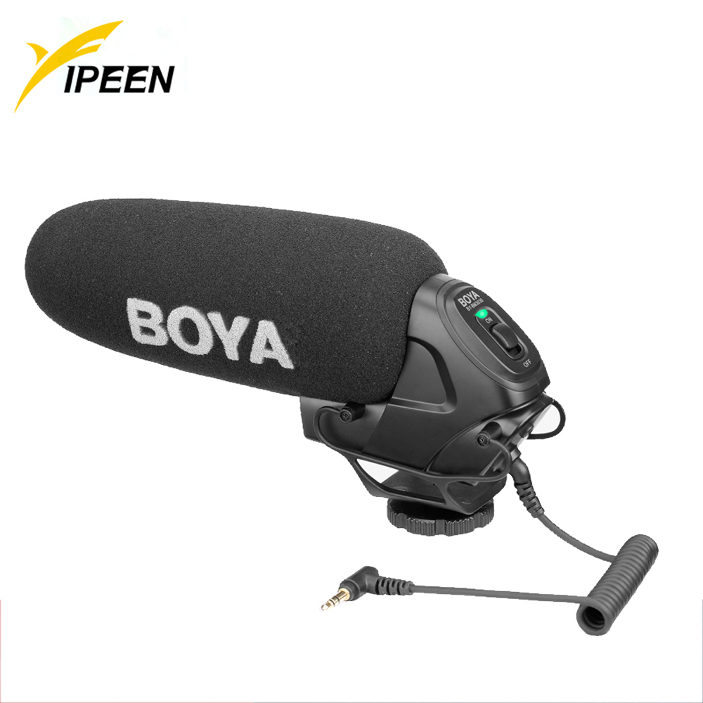 BOYA BM3030 Condenser Microphone On Camera MIC Wired 3.5 Recording Studio Voice For Canon Nikon Youtube Professional Microphone image