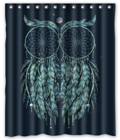 Hot Sale Dream Catcher Native American Indians Pattern Theme Picture Bathroom Shower Curtain 60 X 72 In Curtains From Home Garden On