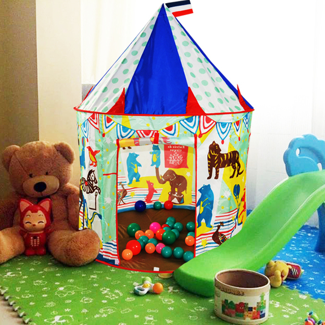 Child tent circus indoor play house oversized dollhouse male toy house tenda circo with 5 balls  sc 1 st  AliExpress.com & Child tent circus indoor play house oversized dollhouse male toy ...