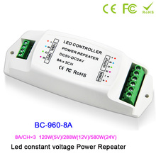 BC-960-5A/BC-960-8A/BC-960-10A DC5V-24V led Ampilier 5A/8A*3CH,10A*1CH data repeater/led RGB/mono amplifier PWM power repeater