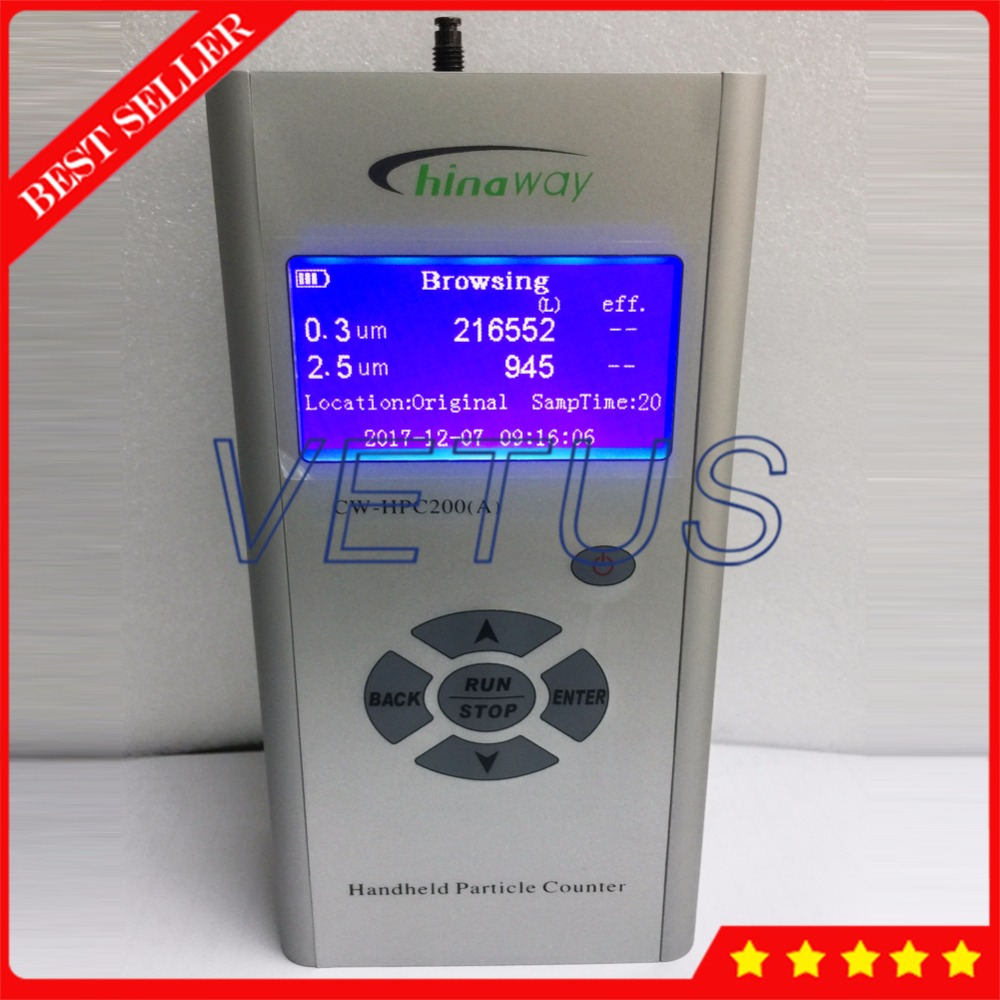 High Sensitivity digital laser particle counter with CW-HPC200(A) air quality monitor Purification Efficiency tester new ht 9600 high sensitivity pm2 5 detector particle monitor professional dust air quality monitor handheld particle counter