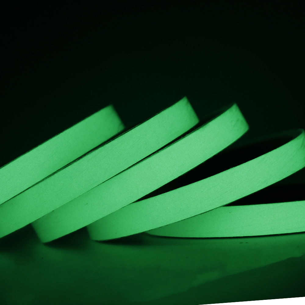 1 roll Luminous tape Glow in The Dark Tape Safety Self-adhesive Sticker Strip Phosphorescent Luminous