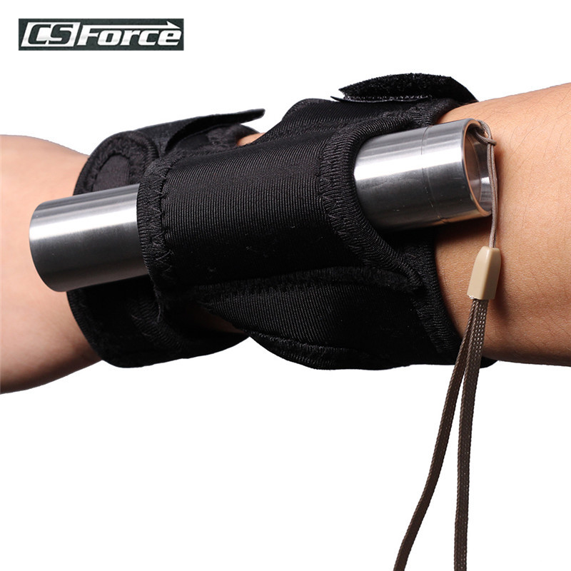 Hands-Free Illuminator Flashlight Holster On Wrist Or Arm Portable Flashlight Holder For Hunting Diving Underwater Torch
