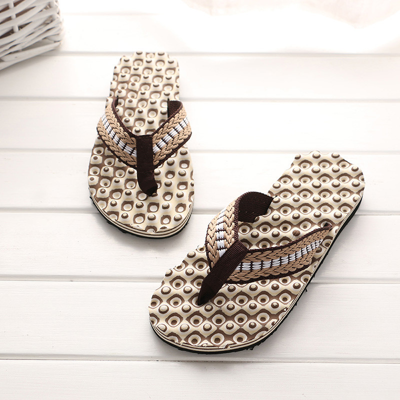 Men Summer Comfortable Massage Flip Flops Shoes Sandals Male Slipper indoor & outdoor Flip-flops New Summer Shoes Slippers(China)