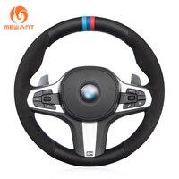 MEWANT черный замшевый чехол рулевого колеса автомобиля из натуральной кожи для BMW M Sport G30 G31 G32 G20 G21 G14 G15 G16 X3 G01 X4 G02 X5 G05