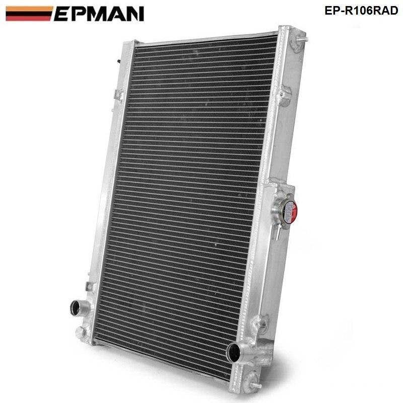 42MM 2 Row Aluminum Radiator for Nissan Skyline R33 R34 GTR GTST RB25DET MT EP-R106RAD
