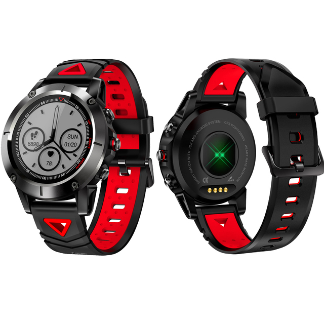b63430eafe62 GPS reloj inteligente G01 apoyo ritmo cardíaco presión arterial Fitness  Tracker Multi-modo Sport Reminder