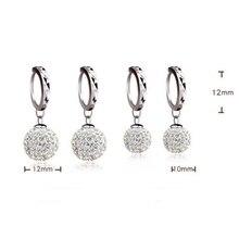 Silver Plated crystal women earrings long earrings fashion Drop earrings charming fashion jewelry
