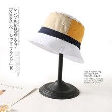 Patchwork Color Bucket Hat Women Summer Sun Hats For Girls Outdoor Sports Hip Hop Cap Men Panama Man Soft Flat Fishing