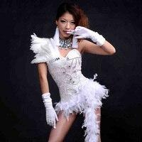 Plumes Jazz Stade Costumes Ds Costumes Ba Hip-Hop Jazz De Danse Club De Danse Sexy Dj Vêtements de Performance