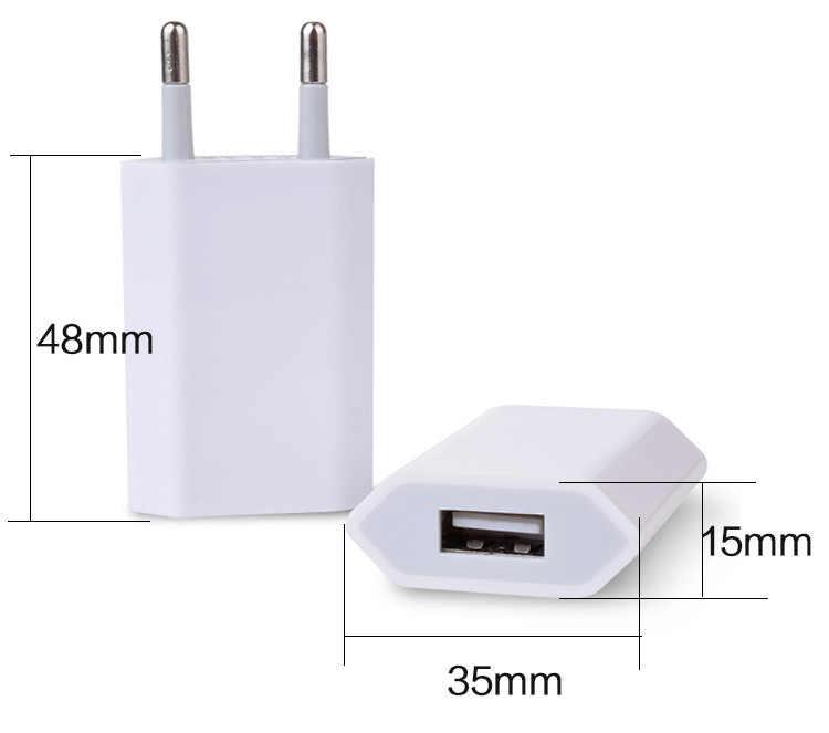 عالمي الاتحاد الأوروبي التوصيل آيفون 4 4s 5 5s 5C SE USB الطاقة الرئيسية الجدار مهايئ شاحن آيفون 7 7 Plus 6 6S السفر لسامسونج LG