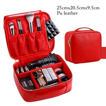 Professional clapboard portable cosmetic bag small portable simple makeup waterproof storage bag 6