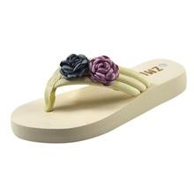 6cffc2357 Las mujeres casuales de la moda de todo propósito Hermitage torta de flor  zapatillas zapatos de mujer Zapatillas de fibra de bam.