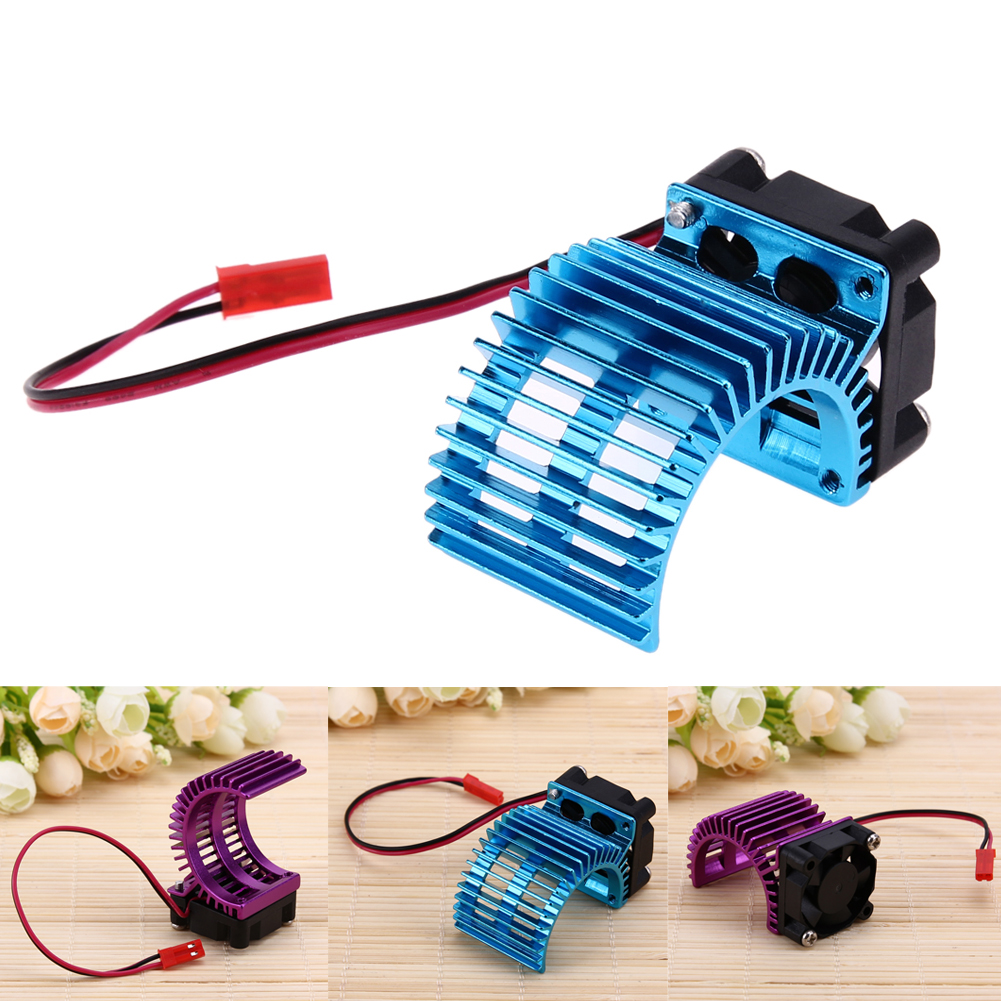 Heat Sink with Cooling Fan for 1/10 HSP Racing Car 540/550/3650/3660/3674 Motor 1:10 Electric RC Car Remote Control Toy Parts hj 540 excellent motor w installation hole for 1 10 rc car