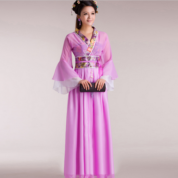 White Chinese Traditional Women Sexy Suit Hot Selling Hanfu Costume DressTang Suit Hanfu Dress