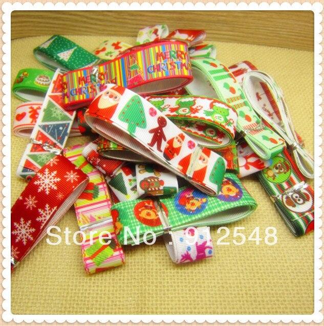 7/8 »22 мм, 2013 Новое поступление Рождество ленты серии, 27 цветовой гаммы, SDZH5