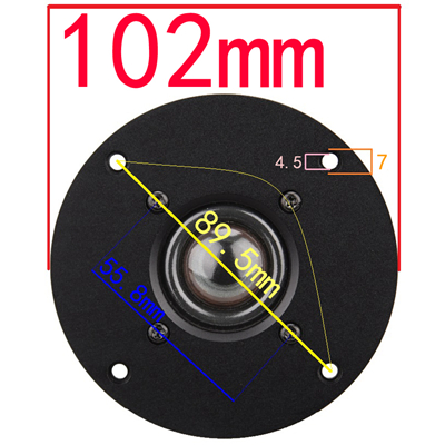 transparente 6ohm30w agudos alto-falante 94 94 120mm