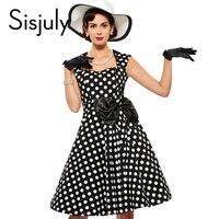 Bridess Vintage Women Dot A Line Dress Spring Fall Little Party 1950s Dress