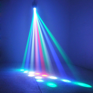 Image 4 - שלב אור דיסקו לייזר מקרן 64LED DJ ביצועי נשף חג המולד קישוטים לבית DMX בקר המפלגה strobe מנורה