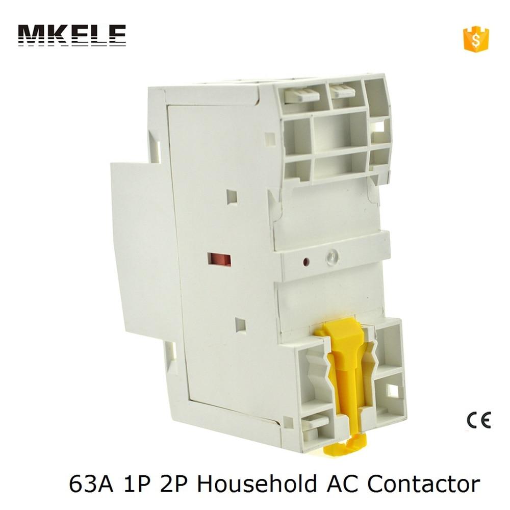 2NO auxiliar MKWCT-63 63A 2 P 24 V 48 V 110 V 220 V 240 V 400 V 50or60HZ Din rail Ménage AC Contacteur Démarreur