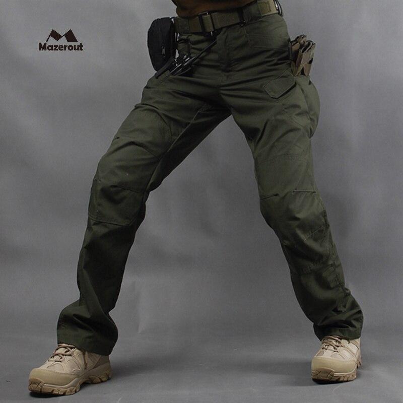 2019 homme nouveau tactique téflon militaire étanche pêche en plein air armée pantalon Combat Trekking formation pantalon 5XL escalade Camping