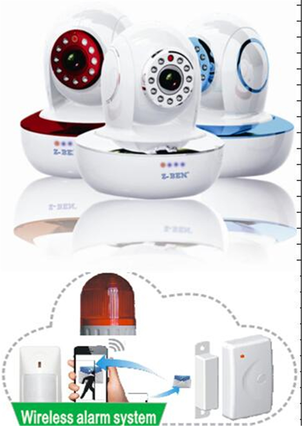 Cloud Storage P2P WIFI IP Camera Support 433Mhz Alarm Sensor 720/960/1080P Optional цена