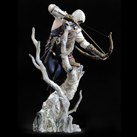 Anime figure UBISOFT Assassin's Creed Altair Legendary Bell & Hunter Connor action figure collectible model toys Toys Gifts 26cm