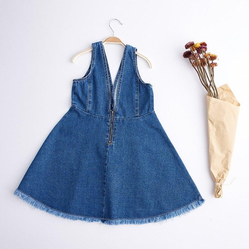 2017 NEW Summer Fashion Children Child Kids Girls Boys Baby Cotton Denim Overall Girls Soft Shorts Suspender Dress With Holes