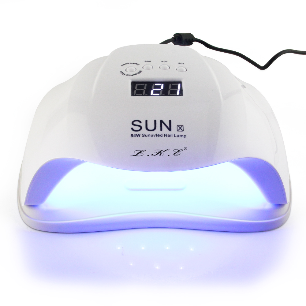 LKE SUN X 36W 54W  Nail Lamp UV LED Lamp Dryer Lamp 36LEDs Nail Dryer For All Gels Polish 10s 30s 60s with Auto Sensor Nail lampLKE SUN X 36W 54W  Nail Lamp UV LED Lamp Dryer Lamp 36LEDs Nail Dryer For All Gels Polish 10s 30s 60s with Auto Sensor Nail lamp