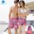 Cubierta de la onda Coreana pareja de secado rápido pantalones de playa hombres y mujeres tamaño loose vacaciones de luna de miel playa cinco pantalones cortos