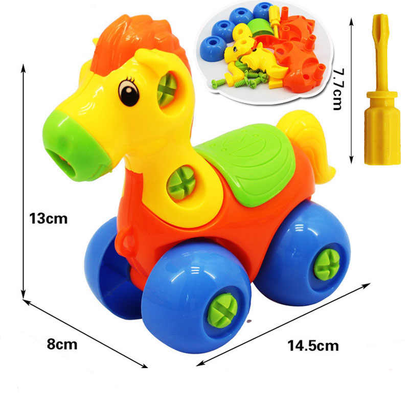 Das crianças Do Bebê brinquedo de Aprendizagem Inteligência Montagem Desmontagem Brinquedo de Plástico Espada dragão Animais Modelo de Carro Caminhão Brinquedos As Crianças Presentes