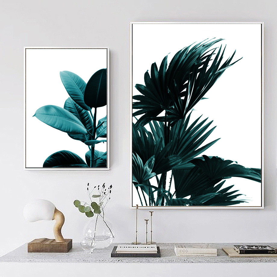 Tropical Leaves Wall Art Canvas Painting Nordic Posters And Prints Canvas Art Wall Pictures For Living Room Bedroom Wall Decor