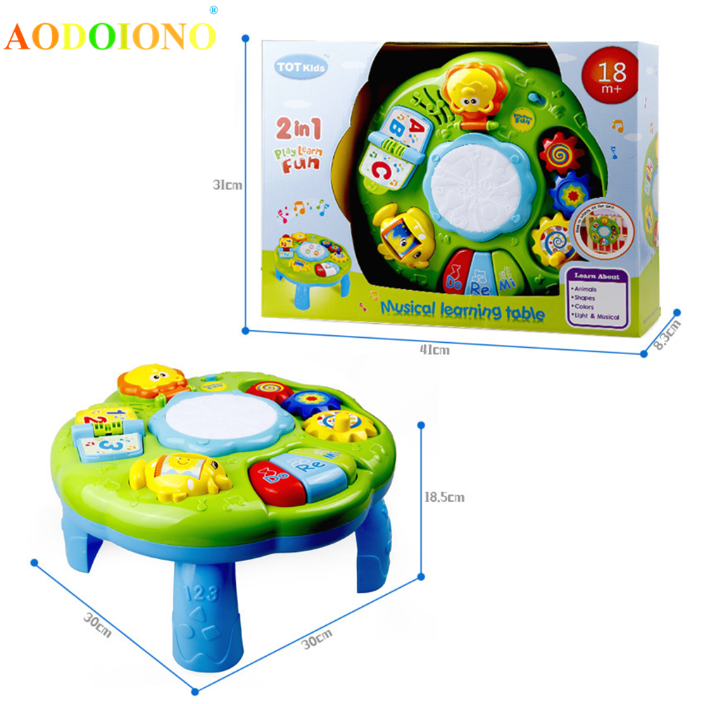 Baby Music Learning Table Multi-functional Game Table for Toddlers with Colorful Light Sound Early Educational Toy for Kids Baby Herbal Products