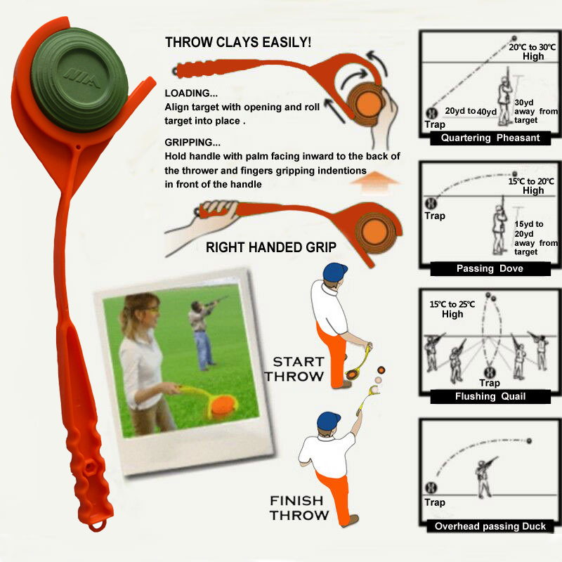 Target Clay Tra MTM Hunting-Shooting Arm Handheld New EZ-3 with Swing by