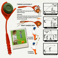 Swing Hunting Shooting EZ-3 By MTM New Hand Held Tra New Clay Handheld Target Without Target Thrower With Arm