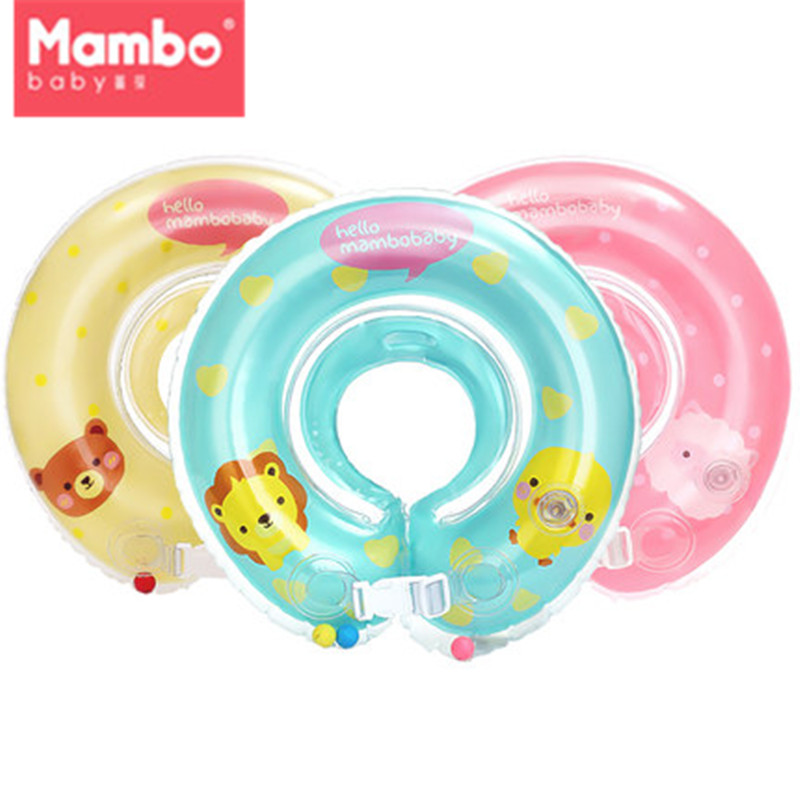 Mambobaby Baby Swimming Neck Float Ring Inflatable Kid Neck Float Safety Product Beach Accessories Baby Swimming Pool Accessorie
