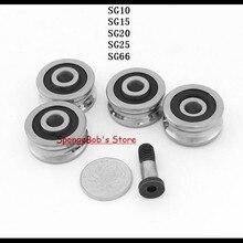 5 шт./лот SG10/SG15/SG20/SG25/SG66 U паз подшипника стальной шкив шариковые подшипники направляющий роликовый подшипник