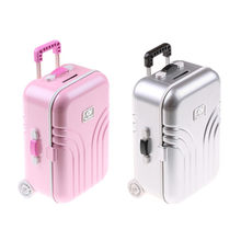 2018 New Travel Set Suitcase For 18 inch Doll pink/silver High Quality(China)