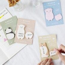 4 pcs Chubby animal sticky note Cartoon panda dog memo pad Diary Planner sticker Cute Stationery Office School supplies A6045