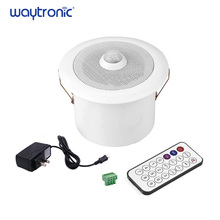 Dans le plafond PIR capteur de mouvement Induction Mini amplificateur Audio haut parleur MP3 USB téléchargement vocal annonceur rappel de sécurité pour la banque
