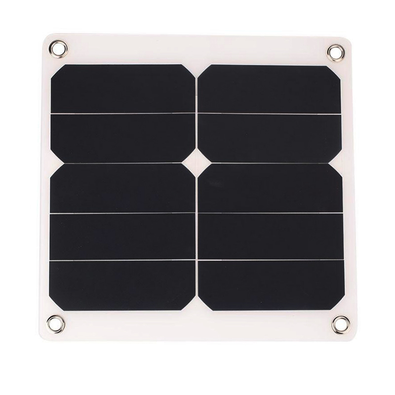 1pcs 2A 10W 5V Solar Power Panel External Mobile Phone Battery sun panel Charger with USB Port solar cell for phone charging