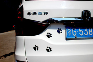 Image 5 - Car Sticker Cool Design Paw 3D Animal Dog Cat Bear Foot Prints Footprint 3M Decal Car Stickers Silver Gold Red Car Accessories